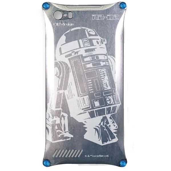 STAR WARS スター・ウォーズ iPhone SE / 5s / 5 対応 アルミソリッドケース / R2-D2(シルバー) rinzo