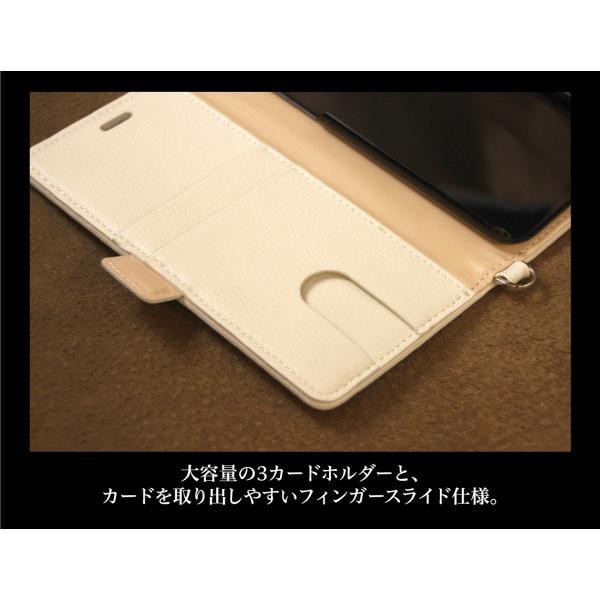 iPhone XS / X ケース 手帳型 北欧 おしゃれ ファブリック×レザー / ジオメトリック柄 / グレー|rinzo|11