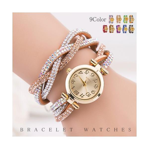 【ヤフーランキング1位】腕時計 ウォッチ ブレスレット ビジュー キラキラ 輝く 存在感 送料無料【01月25日頃入荷発送予定】|rioty