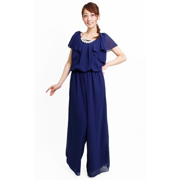 ドレス パーティードレス 結婚式 パンツドレス パンツ 大きいサイズ 二次会 シフォン 20代 30代 40代|rippleplus-shop|06