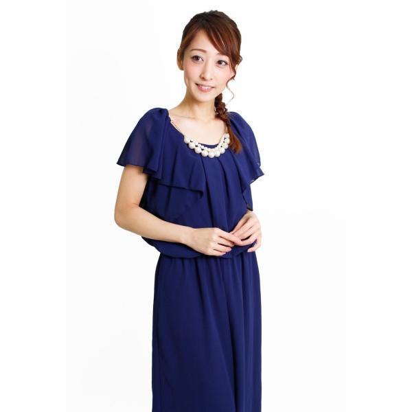 ドレス パーティードレス 結婚式 パンツドレス パンツ 大きいサイズ 二次会 シフォン 20代 30代 40代|rippleplus-shop|07