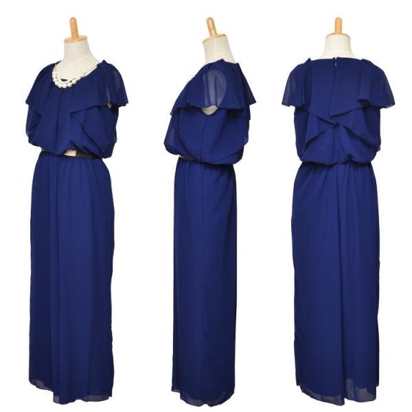 ドレス パーティードレス 結婚式 パンツドレス パンツ 大きいサイズ 二次会 シフォン 20代 30代 40代|rippleplus-shop|08