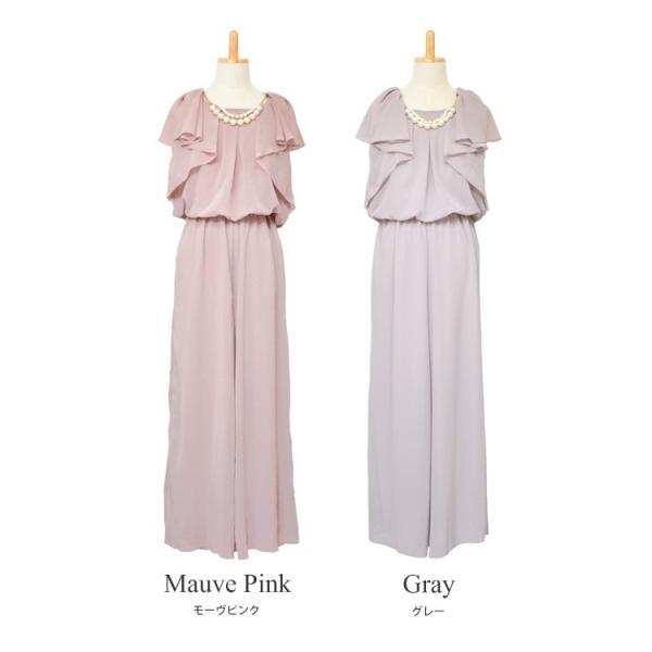 ドレス パーティードレス 結婚式 パンツドレス パンツ 大きいサイズ 二次会 シフォン 20代 30代 40代|rippleplus-shop|10