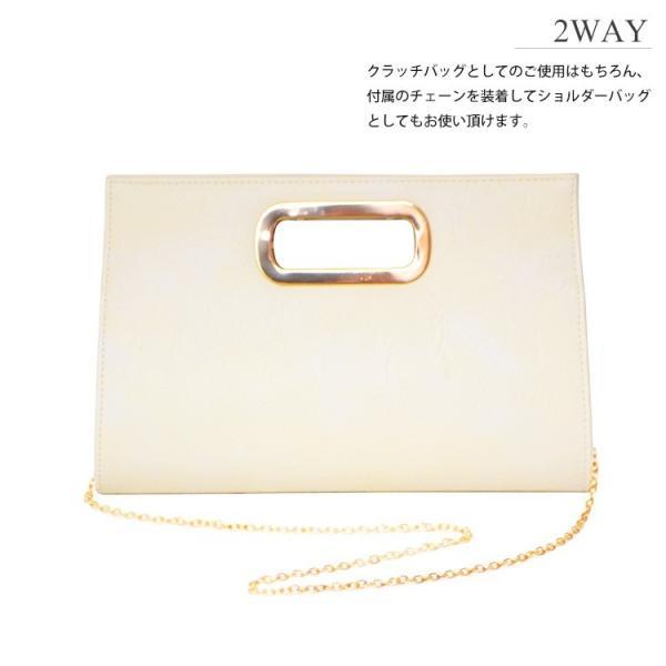 パーティーバッグ 結婚式 クラッチ レザー 2Way 大きめ バッグ パーティバッグ クラッチバッグ レディース シンプル|rippleplus-shop|06