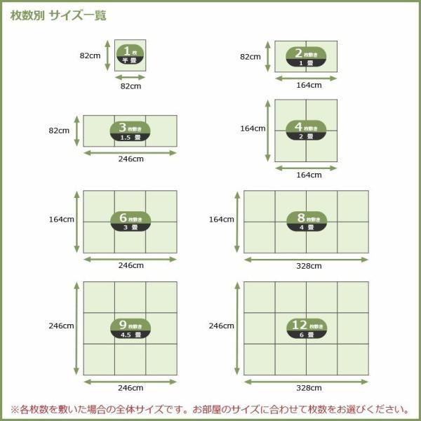 【2枚セット】置き畳 い草 ユニット畳 システム畳 フロア畳  琉球畳  縁なし畳【純国産】 Classicシリーズ かんざし ブラック  約82×82×1.9cm 半畳 日本製 rirakusa 04