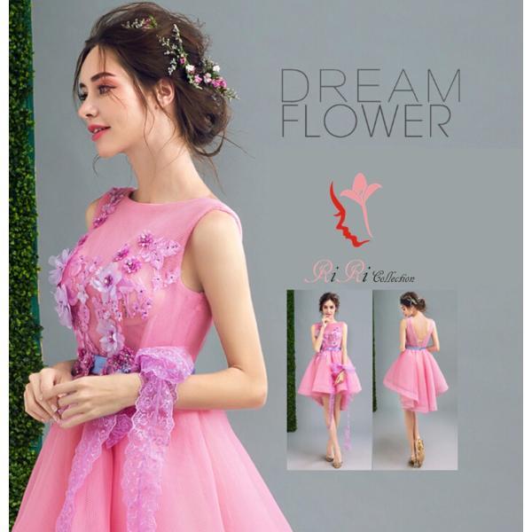 ece8bec3b2c7e DORES-162 ウェディングドレス さくらピンク カラードレス 薔薇 刺繍 高級 ドレス 結婚式 披露宴 ...