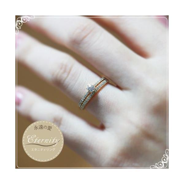 K14ゴールドリング 指輪 ハーフエタニティリング ラウンドブリリアントカット 14金|risacrystal|03