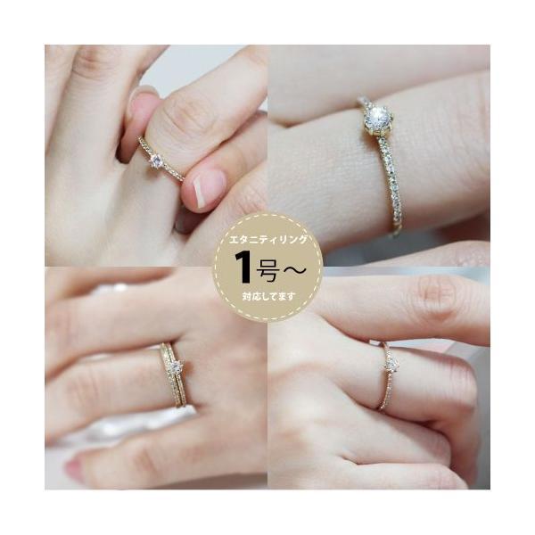 K14ゴールドリング 指輪 ハーフエタニティリング ラウンドブリリアントカット 14金|risacrystal|04