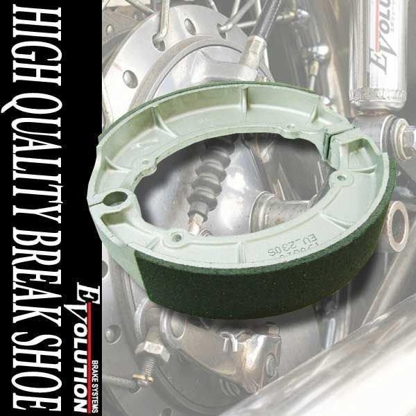 EV-230S ドラムブレーキシュー XV400ビラーゴ ドラッグスター400/クラシック XV535 ビラーゴ 補修 交換 部品 パーツ|rise-batterystore