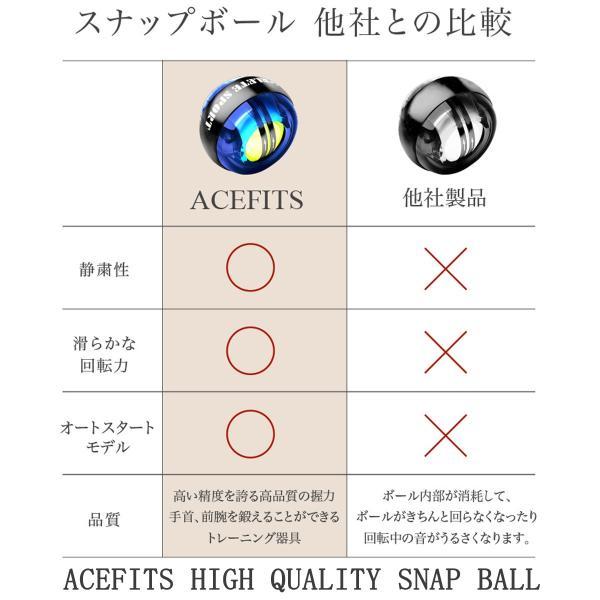 リスト 強化 パワー ボール 筋肉 筋トレ 器具 手首 握力 グッズ 筋力 マッスル トレーニング スナップボール オートスタート搭載モデル ACEFITS|rise-one|07
