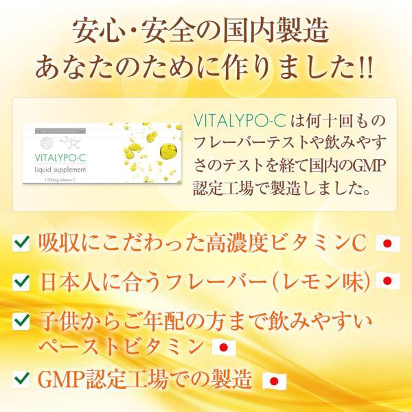 高濃度ビタミンC サプリ ビタミンC 誘導体 サプリメント αリポ酸 液体ビタミンC レモン風味 VITALYPO-C 30包 1ヶ月分 1100mg|rise-one|04