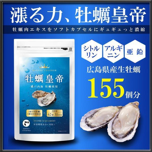 牡蠣 サプリ 亜鉛 サプリメント 国内産 アルギニン アミノ酸 必須 ミネラル 滋養 活力 妊活 グリコーゲン ビタミンB群 牡蠣エキス使用 90粒 30日分 牡蠣皇帝|rise-one
