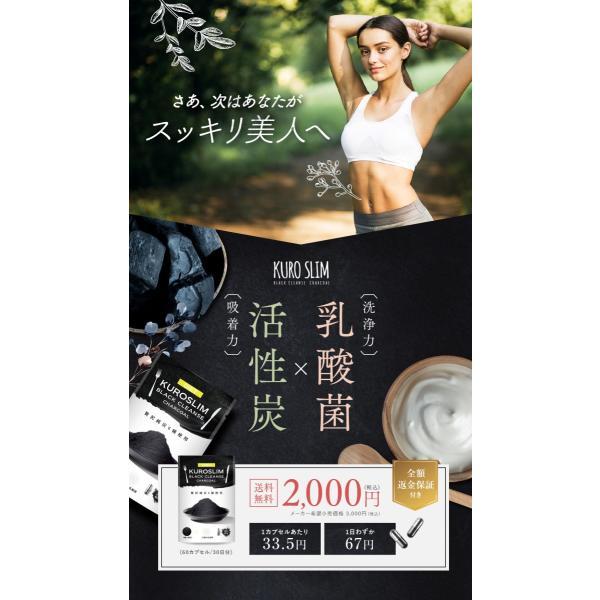炭 サプリ ダイエット サプリメント チャコール ブラック クレンズ 難消化性 デキストリン 贅沢純炭6種 22種の乳酸菌 クロ スリム 60粒 1ヶ月分|rise-one|15