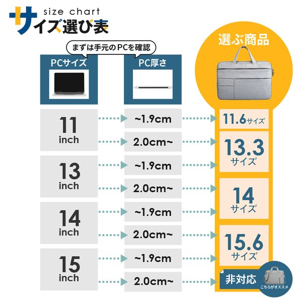 ノートパソコン バッグ ケース ノートPC インナーケース MacBook 防水 収納 軽量 撥水 11 12 13 14 15 インチ|risecreation|04