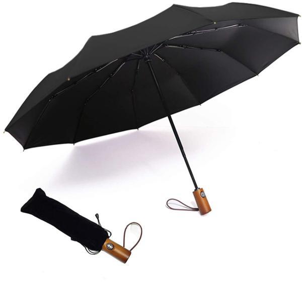 折りたたみ傘ワンタッチ自動開閉10本骨メンズ傘耐強風梅雨超撥水おりたたみ傘ビジネス男女通用高強度収納ポーチ付きギフト