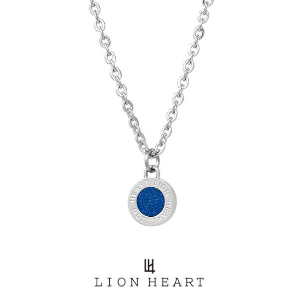 ライオンハート LH-1 ステンレス サークルコインネックレス (ブルー) 04N126SMBL LION HEART ネックレス メンズ ブランド ギフト(誕生日 プレゼント)