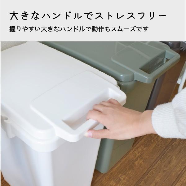 ゴミ箱 おしゃれ キッチン 45L フタ付き 分別 シンプル 定番 角型 ナチュラル ホワイト グリーン ブラウン(キッチン 台所 屋外 連結 ベランダ )|risu-onlineshop|05