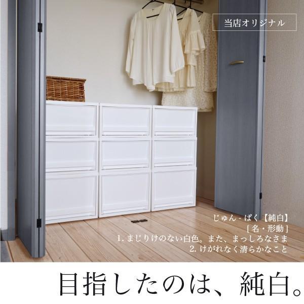 収納ケース 衣装ケース ホワイト 白 引き出し おしゃれ シンプル 定番プラスチック EDEL エーデル Mサイズ risu-onlineshop 02