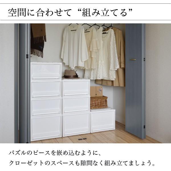 収納ケース 衣装ケース ホワイト 白 引き出し おしゃれ シンプル 定番プラスチック EDEL エーデル Mサイズ risu-onlineshop 05