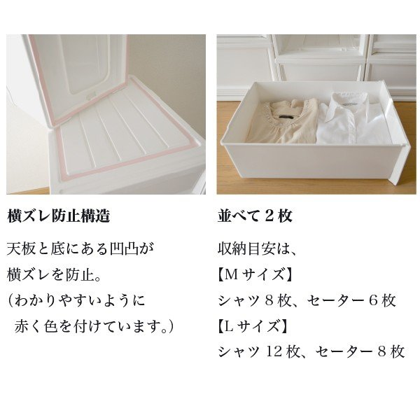 収納ケース 衣装ケース ホワイト 白 引き出し おしゃれ シンプル 定番プラスチック EDEL エーデル Mサイズ risu-onlineshop 08