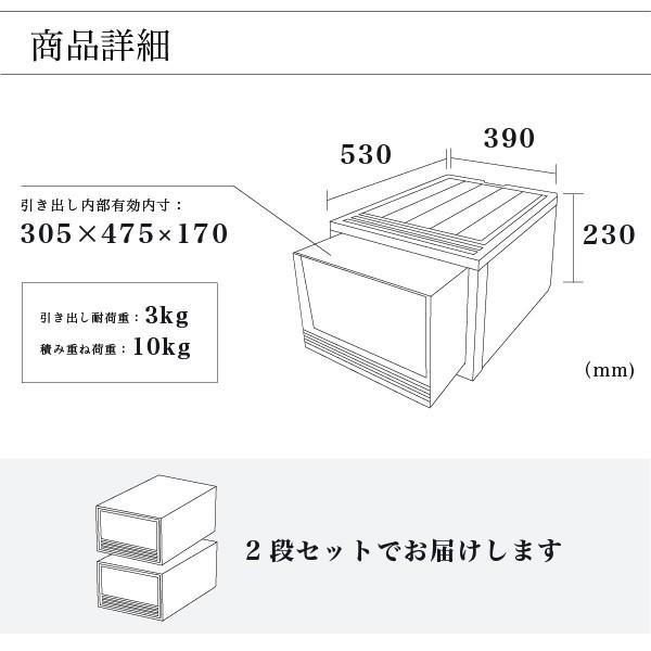 収納ケース 衣装ケース ホワイト 白 引き出し おしゃれ シンプル 定番プラスチック EDEL エーデル Mサイズ risu-onlineshop 10