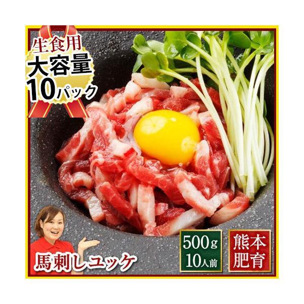 肉 肉の生で食べられる 安心 肉のユッケ 熊本 500g 約50g×10 約10人前 馬肉 ギフト 食べ物 おつまみ