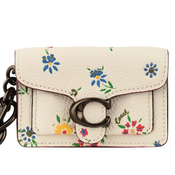 「10%以上還元」コーチCOACHミニポーチキーホルダー花柄アウトレット1616ショップ袋付き