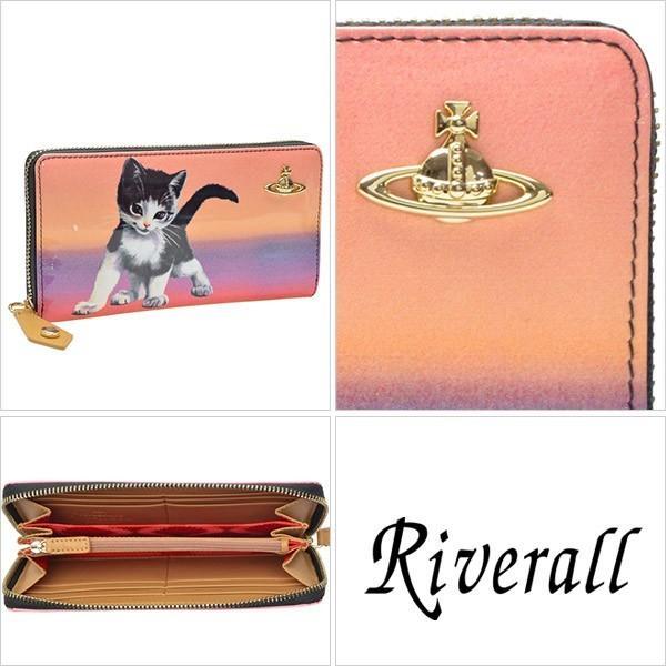 ヴィヴィアン ウエストウッド 財布 長財布 ラウンドファスナー 猫 モチーフ Vivienne Westwood 32950|riverall|02