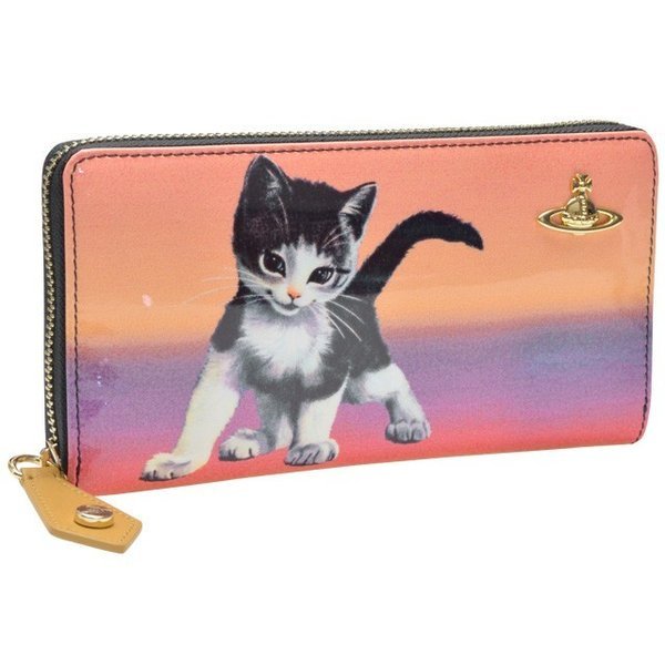 ヴィヴィアン ウエストウッド 財布 長財布 ラウンドファスナー 猫 モチーフ Vivienne Westwood 32950|riverall|03