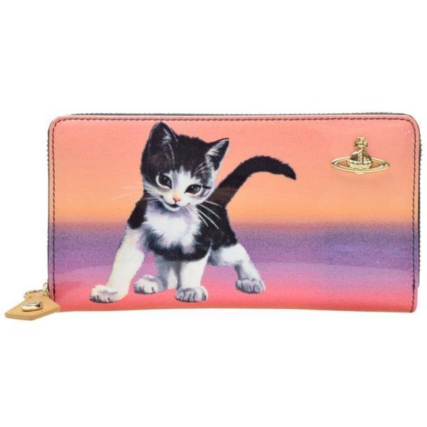 ヴィヴィアン ウエストウッド 財布 長財布 ラウンドファスナー 猫 モチーフ Vivienne Westwood 32950|riverall|05