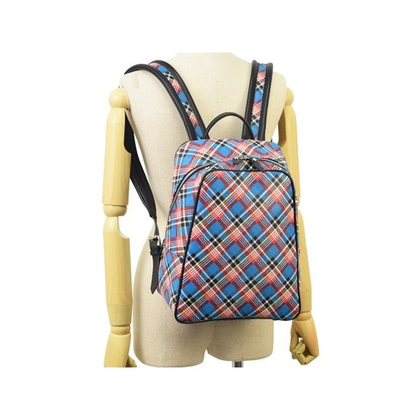 平成最終セール ヴィヴィアン・ウエストウッド Vivienne Westwood バッグ リュックサック バックパック チェック 格子柄 43010012