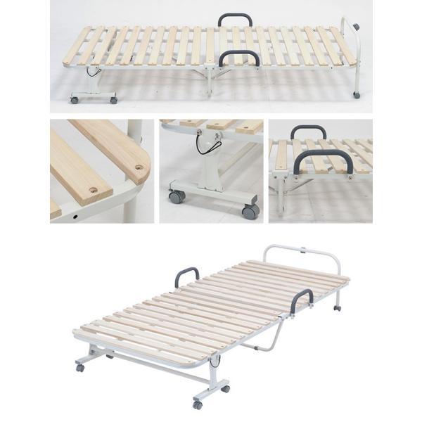 すのこベッド 折りたたみベッド シングル おりたたみ 白 ホワイト コンパクト|riverp|04