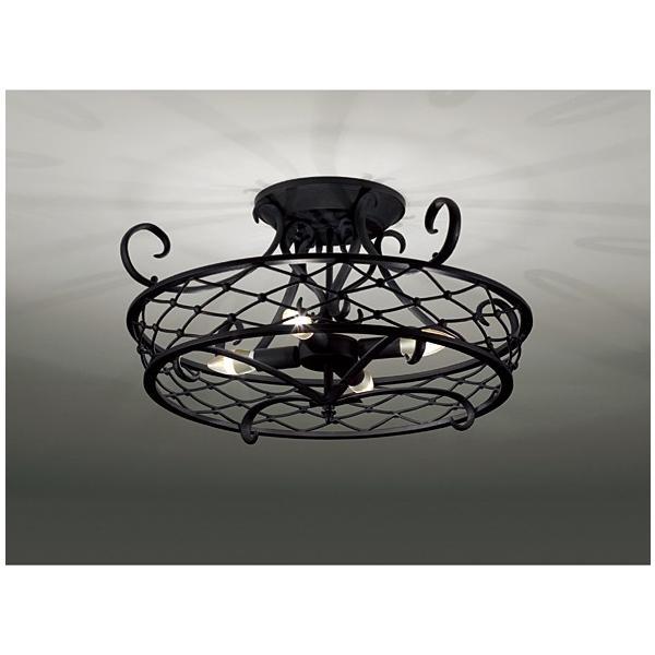 【シーリングライト シャンデリア ブラック 黒 4灯用】照明器具 LED アンティーク エレガント おしゃれ 遠藤照明 XRG4024X