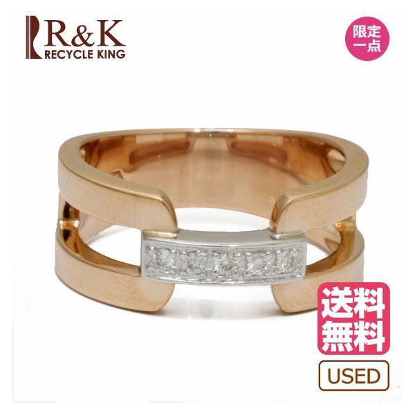 ヴァンドーム青山 リング 指輪 レディース ダイヤモンド 18金ピンクゴールド ホワイトゴールド VENDOME AOYAMA K18PG K18WG 2カラー 11号 18K 中古|rk-y