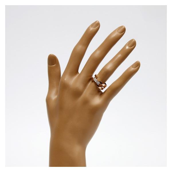 ヴァンドーム青山 リング 指輪 レディース ダイヤモンド 18金ピンクゴールド ホワイトゴールド VENDOME AOYAMA K18PG K18WG 2カラー 11号 18K 中古|rk-y|02