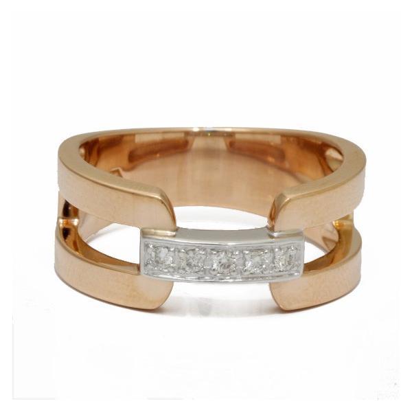 ヴァンドーム青山 リング 指輪 レディース ダイヤモンド 18金ピンクゴールド ホワイトゴールド VENDOME AOYAMA K18PG K18WG 2カラー 11号 18K 中古|rk-y|06