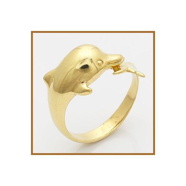 リング レディース 指輪 18金 K18 イルカ ドルフィン 女性 かわいい オシャレ 中古 ring 価格見直し