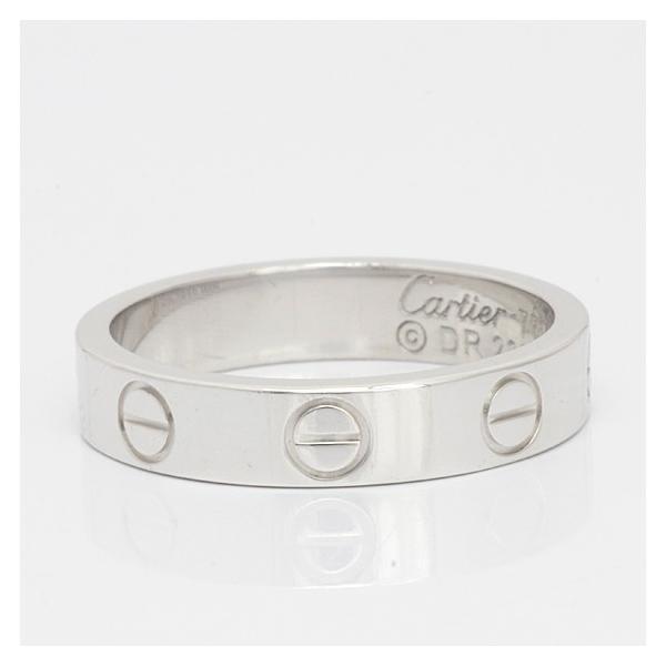 カルティエ リング 指輪 レディース 18金 K18WG Cartier ミニラブ #48 8号 ホワイトゴールド BJ ** 中古 ring 価格見直し|rk-y|04