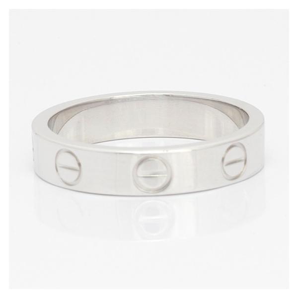 カルティエ リング 指輪 レディース 18金 K18WG Cartier ミニラブ #48 8号 ホワイトゴールド BJ ** 中古 ring 価格見直し|rk-y|05