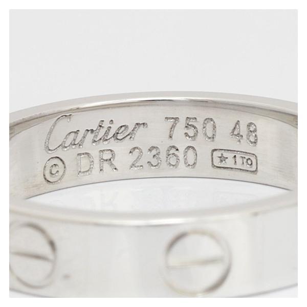 カルティエ リング 指輪 レディース 18金 K18WG Cartier ミニラブ #48 8号 ホワイトゴールド BJ ** 中古 ring 価格見直し|rk-y|06