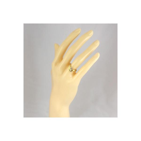 リング 指輪 レディース 18金 K18 ダイヤモンド D0.22 女性 かわいい オシャレ 中古 ring 価格見直し