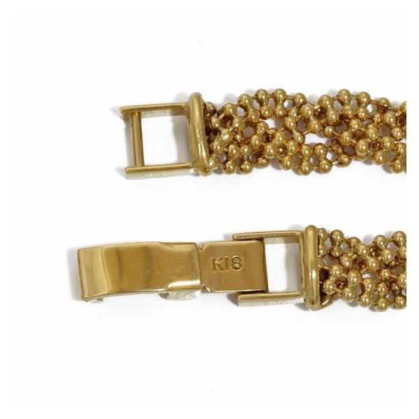 ブレスレット レディース 18金 K18 ボールチェーン 6連 ゴールド 18K メンズ おしゃれ かわいい ギフト プレゼント 中古