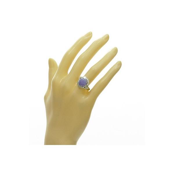 リング 指輪 レディース プラチナ PT900 ダイヤモンド D0.74 ラベンダー翡翠 かわいい おしゃれ 中古 ring 価格見直し|rk-y|02