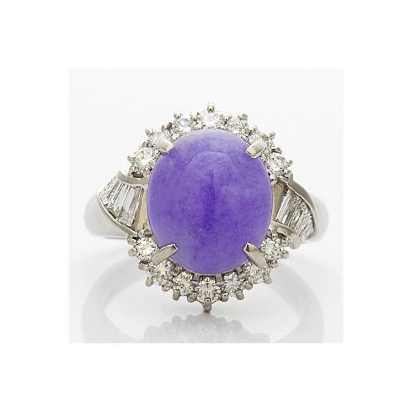 リング 指輪 レディース プラチナ PT900 ダイヤモンド D0.74 ラベンダー翡翠 かわいい おしゃれ 中古 ring 価格見直し|rk-y|03