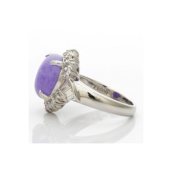 リング 指輪 レディース プラチナ PT900 ダイヤモンド D0.74 ラベンダー翡翠 かわいい おしゃれ 中古 ring 価格見直し|rk-y|04
