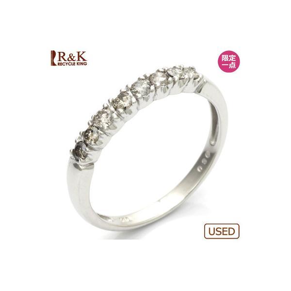 リング 指輪 レディース 10金 K10WG ダイヤモンド D0.30 ハーフエタニティ 女性 かわいい おしゃれ 中古 ring 価格見直し|rk-y