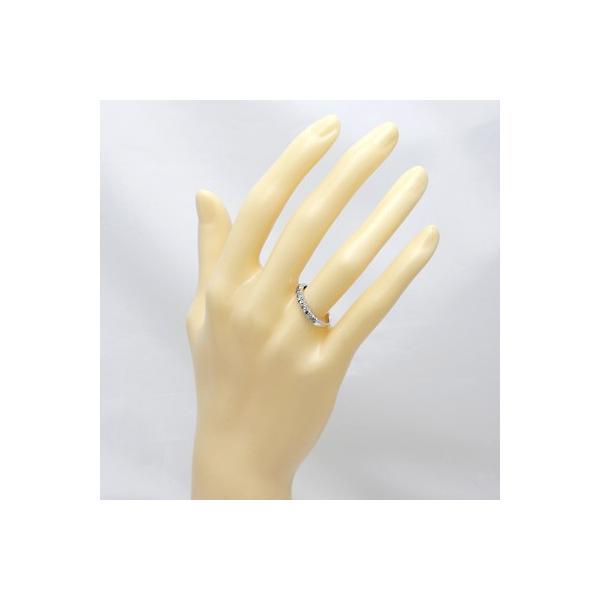 リング 指輪 レディース 10金 K10WG ダイヤモンド D0.30 ハーフエタニティ 女性 かわいい おしゃれ 中古 ring 価格見直し|rk-y|02