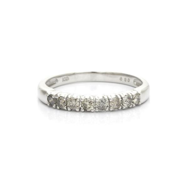 リング 指輪 レディース 10金 K10WG ダイヤモンド D0.30 ハーフエタニティ 女性 かわいい おしゃれ 中古 ring 価格見直し|rk-y|03