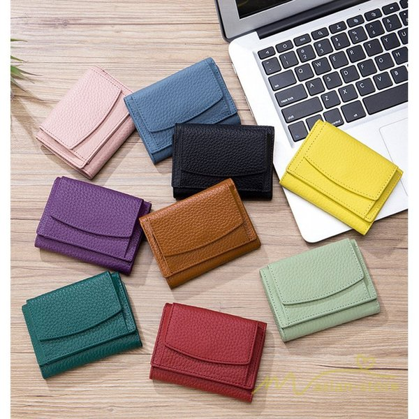 三つ折り財布ミニ財布レディース牛革レザー小銭入れ小さい可愛いコンパクト軽い使いやすい防止スキミングギフトプレゼント