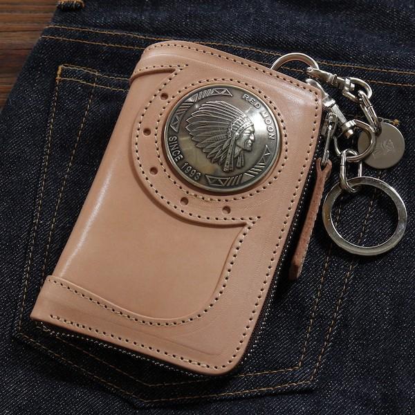 レッドムーン ウォレットREDMOON ハーフウォレット BAREBACK-01A51 L字ファスナー 51mmコンチョ サドルレザー 財布|rmismfukuoka